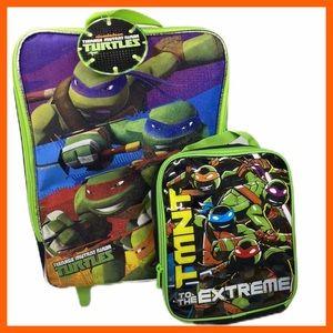 Teenage Mutant Ninja Turtles Travel Bag NWT +Bonus